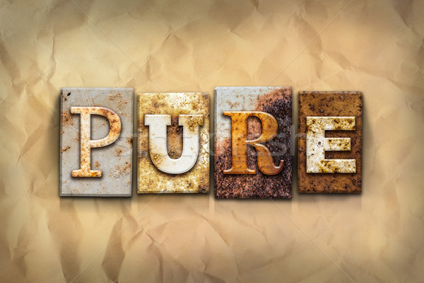 Pure Concept Rusted Metal Type Stock photo © enterlinedesign