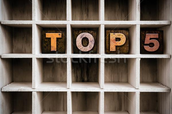 Top тип выдвижной ящик слово Сток-фото © enterlinedesign