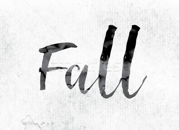 Fall Concept Painted in Ink Stock photo © enterlinedesign