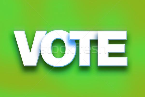 投票 字 藝術 書面 白 商業照片 © enterlinedesign