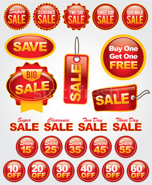Vector Set of Sale and Promotion Labels and Badges Stock photo © enterlinedesign