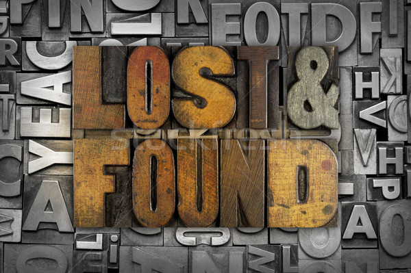 Lost and Found Stock photo © enterlinedesign