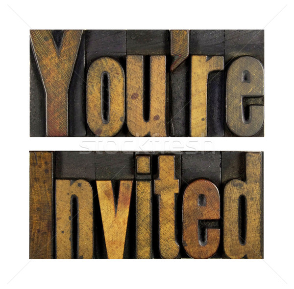 Stock photo: You're Invited