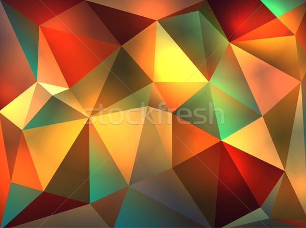 Abstract Geometric Glowing Triangles Illustration Stock photo © enterlinedesign