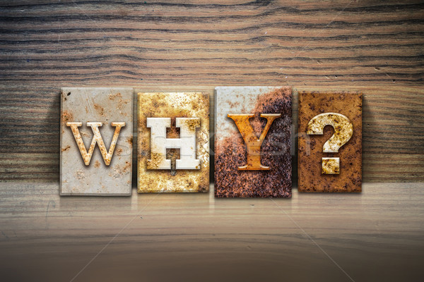 Why Concept Letterpress Theme Stock photo © enterlinedesign