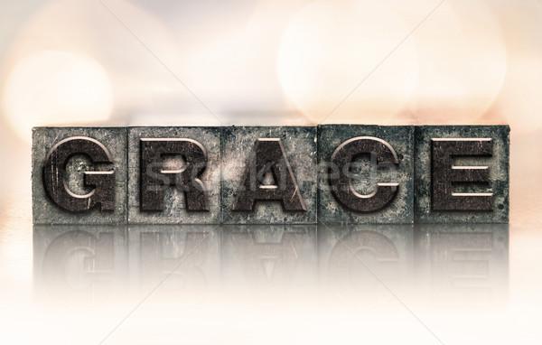 Grace Concept Vintage Letterpress Type Stock photo © enterlinedesign