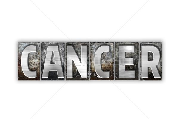 Cancro isolato metal tipo parola Foto d'archivio © enterlinedesign