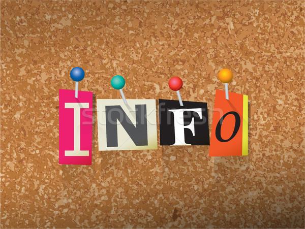 Info papieru ilustracja słowo napisany cięcia Zdjęcia stock © enterlinedesign