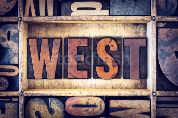 West Concept Letterpress Type Stock photo © enterlinedesign