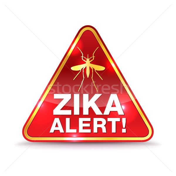 Zika Virus Alert Icon Illustration Stock photo © enterlinedesign