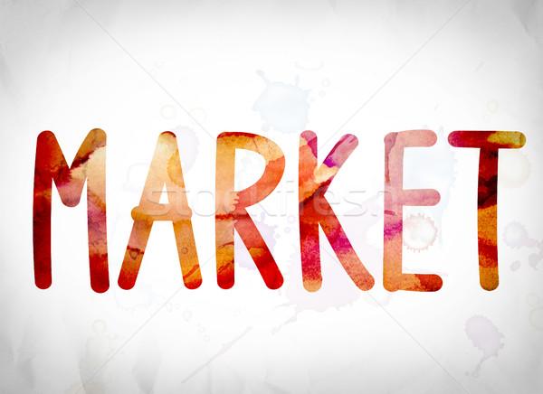 Stock photo: Market Concept Watercolor Word Art