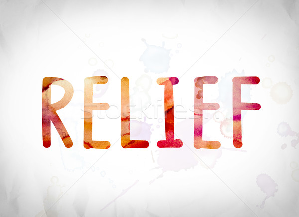 Relief Concept Watercolor Word Art Stock photo © enterlinedesign