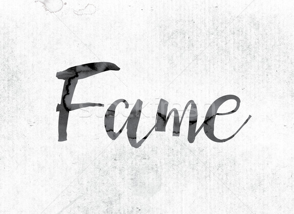 Fame Concept Painted in Ink Stock photo © enterlinedesign