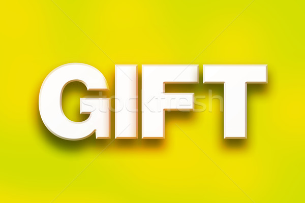 Gift Concept Colorful Word Art Stock photo © enterlinedesign