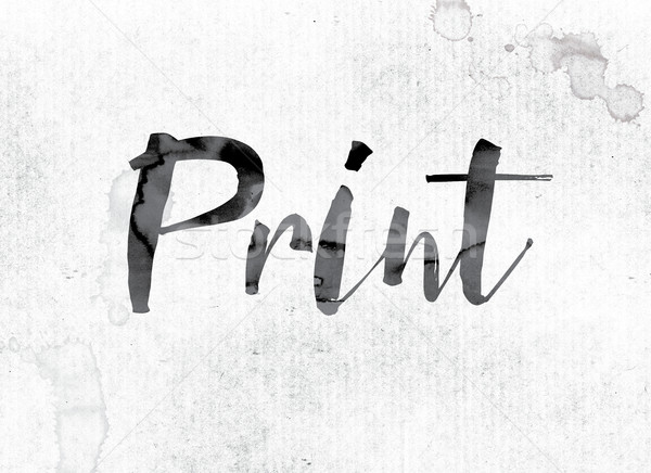 Print Concept Painted in Ink Stock photo © enterlinedesign