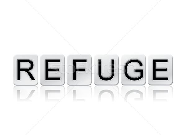 Refuge Isolated Tiled Letters Concept and Theme Stock photo © enterlinedesign