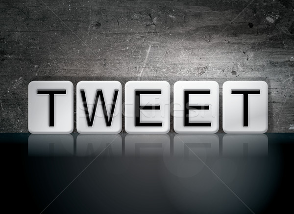 Tweet Tiled Letters Concept and Theme Stock photo © enterlinedesign
