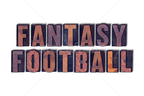 Fantasy Football Concept Isolated Letterpress Word Stock photo © enterlinedesign