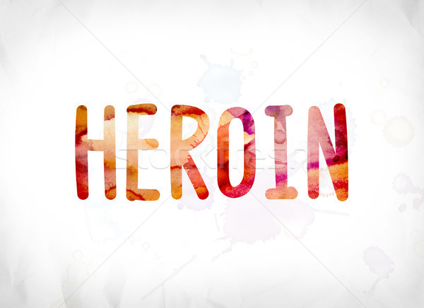 Heroin Concept Painted Watercolor Word Art Stock photo © enterlinedesign