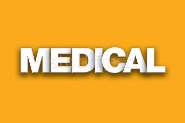 Foto stock: Médicos · palabra · arte · colorido · escrito · blanco