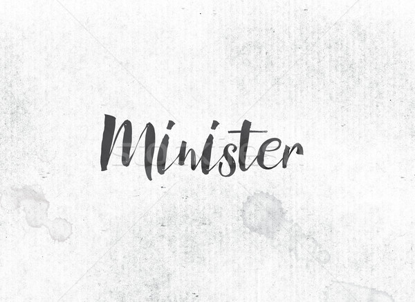 Minister Concept Painted Ink Word and Theme Stock photo © enterlinedesign