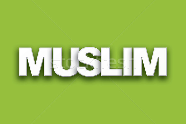 Muslim Theme Word Art on Colorful Background Stock photo © enterlinedesign