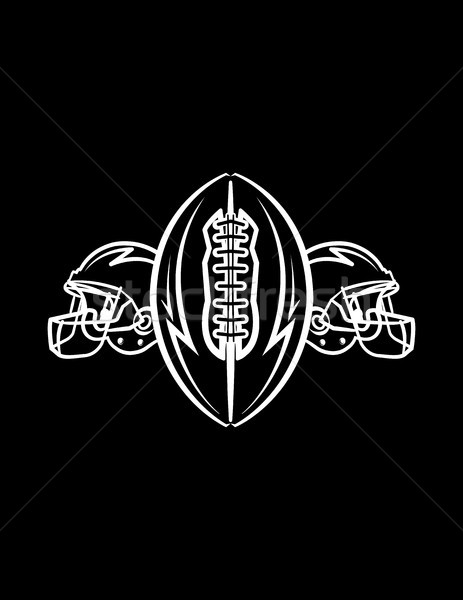 American Football Helmets and Ball Background Illustration Stock photo © enterlinedesign