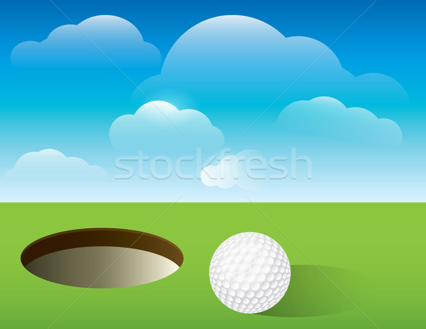 Golf Background Putting Green Stock photo © enterlinedesign