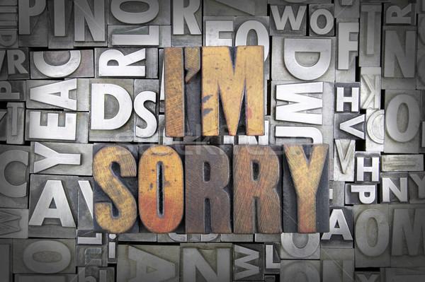 I'm Sorry Stock photo © enterlinedesign