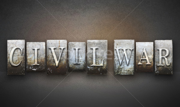 Civil War Letterpress Stock photo © enterlinedesign
