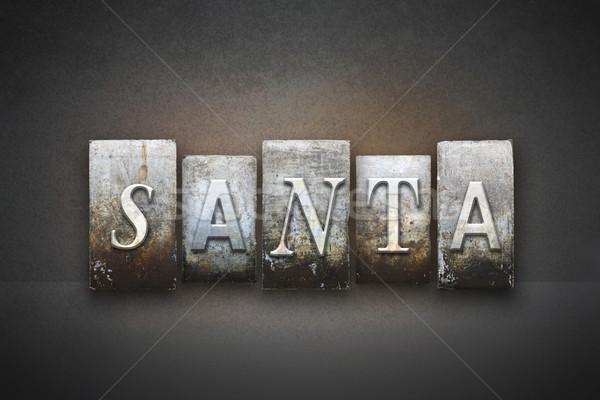 Santa Letterpress Concept Stock photo © enterlinedesign