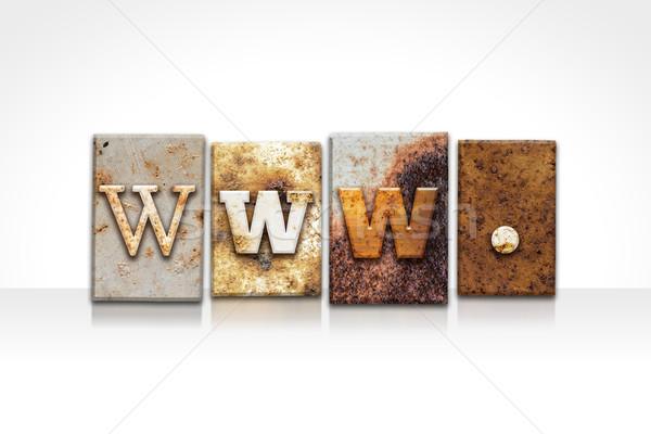 WWW magasnyomás izolált fehér szó írott Stock fotó © enterlinedesign