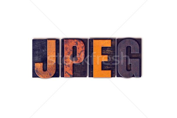 Geïsoleerd type woord geschreven vintage Stockfoto © enterlinedesign