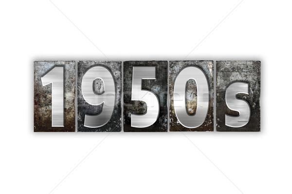 1950s Concept Isolated Metal Letterpress Type Stock photo © enterlinedesign