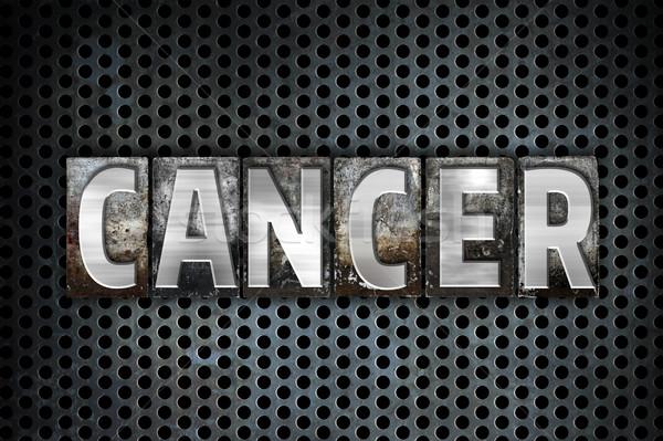 Cancer Concept Metal Letterpress Type Stock photo © enterlinedesign