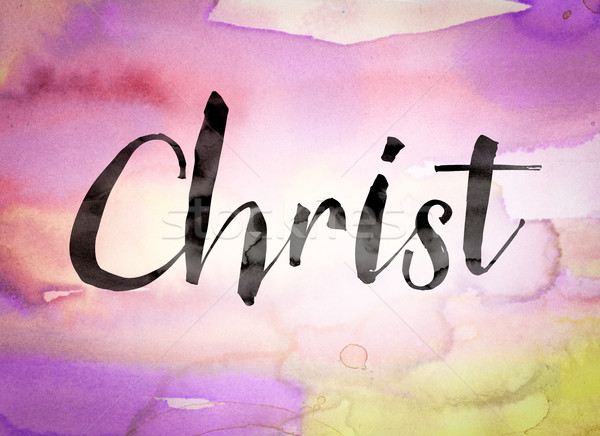Christ Concept Watercolor Theme Stock photo © enterlinedesign