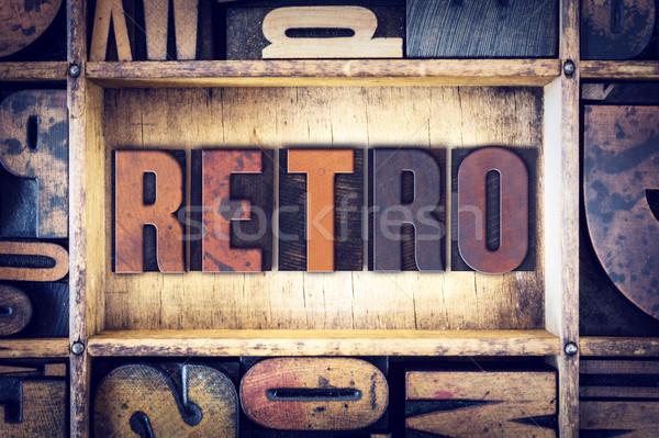 Retro Concept Letterpress Type Stock photo © enterlinedesign