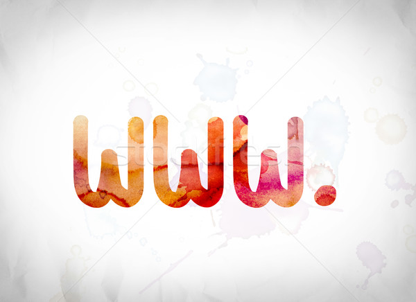 www. Concept Watercolor Word Art Stock photo © enterlinedesign