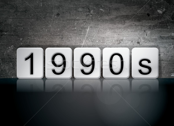 1990s Tiled Letters Concept and Theme Stock photo © enterlinedesign
