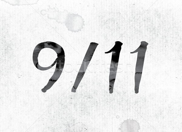 9-11 Concept Painted in Ink Stock photo © enterlinedesign