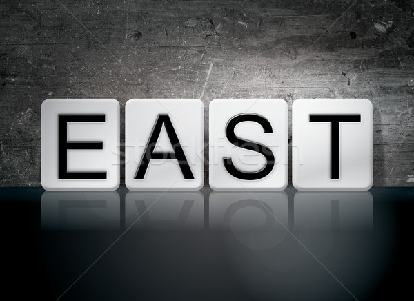 East Tiled Letters Concept and Theme Stock photo © enterlinedesign