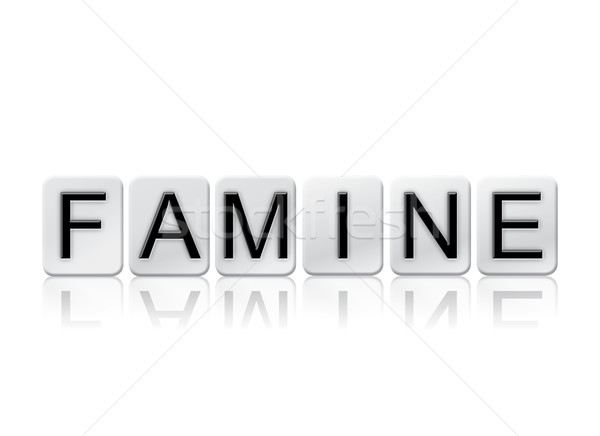Famine Isolated Tiled Letters Concept and Theme Stock photo © enterlinedesign