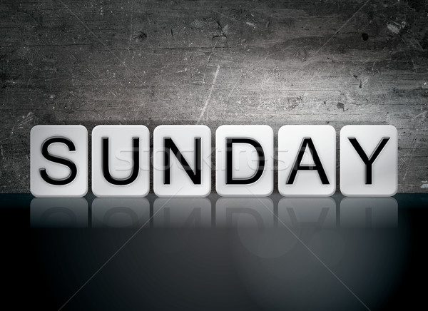 Sunday Tiled Letters Concept and Theme Stock photo © enterlinedesign