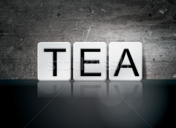 Tea Tiled Letters Concept and Theme Stock photo © enterlinedesign