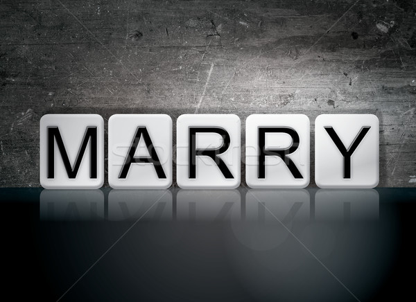 Marry Concept Tiled Word Stock photo © enterlinedesign