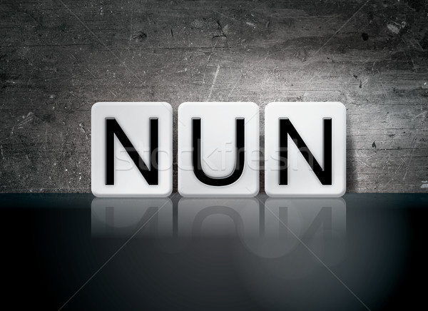 Nun Concept Tiled Word Stock photo © enterlinedesign