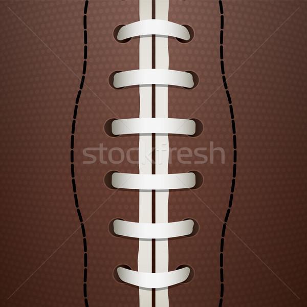 American Football Closeup Background Illustration Stock photo © enterlinedesign