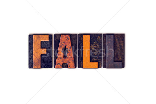Fall Concept Isolated Letterpress Type Stock photo © enterlinedesign