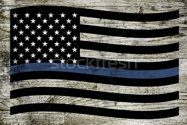 Stock photo: Police Support Flag