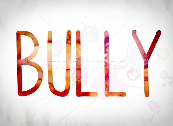 Bully Concept Watercolor Word Art Stock photo © enterlinedesign